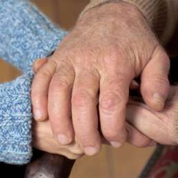 Hände Senioren Groß