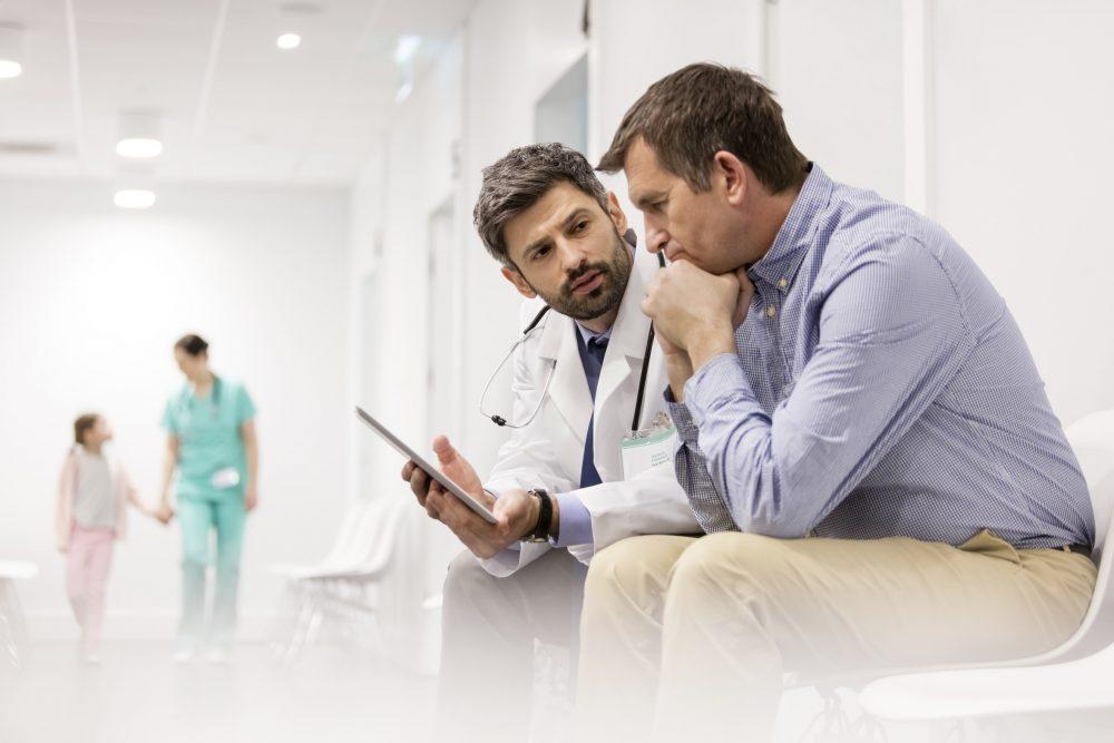 Patientenverfügung Gespräch im Krankenhaus